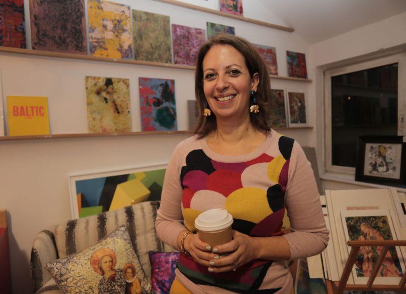 Artist Susi Bellamy in her studio at Cobalt